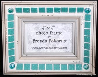 Turquoise Waterfall Mosaic Photo Frame  MOF1348