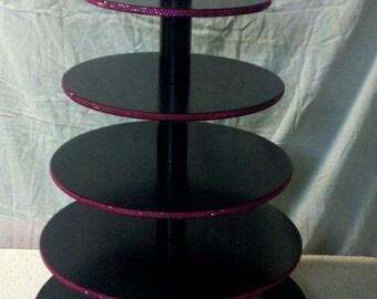 Cupcake Stand w/ rotating base Rhinestone Studded Wedding