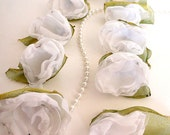 Custom flower bouquet - White wedding bouquet - Christmas wedding - Winter wedding bouquet - Big flower fashion ring