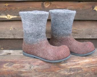 Felted boots AMALIA