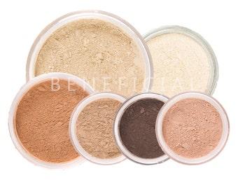 8pc SUMMER GLOW Makeup Kit Mineral Makeup - Pure Natural Vegan Mineral Set
