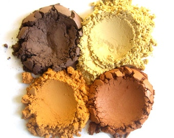 4pc HARVEST Makeup Eyeshadow Collection // Mineral Makeup // Eye Color Set // Mineral Pigment Makeup