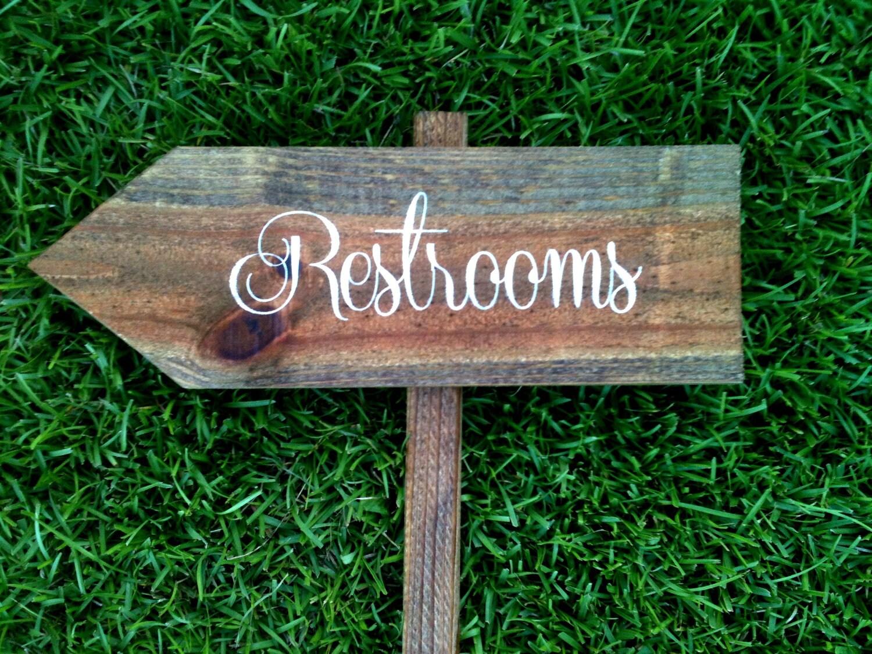 Wedding Sign Wedding Signs Wedding Restrooms Sign WS-63