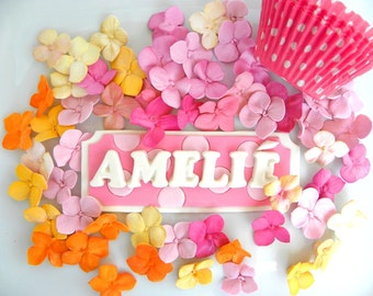 Edible Fondant Cake Topper Name Sign for a Birthday Party 1 qty, Birthday cake decoration, Birthday Name sign, Fondant Cake Sign