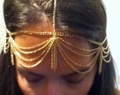 Gold Head Piece with Gold Tassels