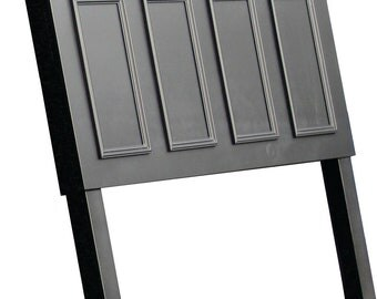 Headboards made from doors - Extended Queen size headboard with legs - Onyx black