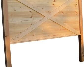 Headboards made from doors - King size barn door style headboard with legs