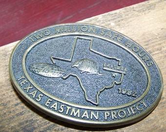 Brass Belt Buckle Oval Belt Buckle Texas Eastman Belt Buckle