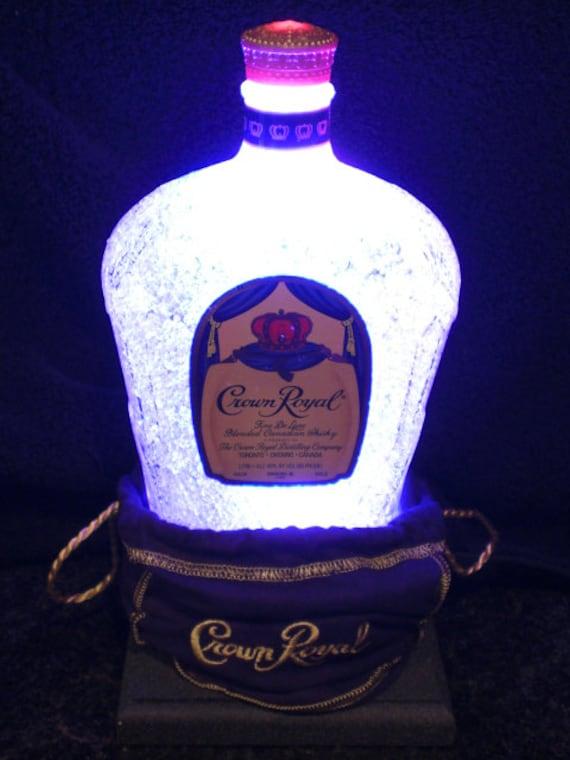 Crown Royal Whiskey Lumibottle Led Bottle W Bag Bar Lamp