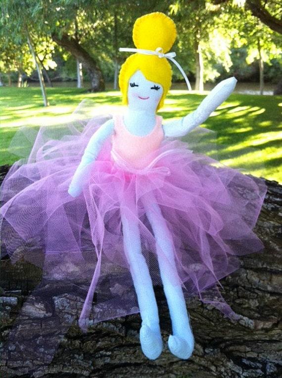 Handmade Ballerina Cloth Doll