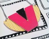 Plywood tribal pendent