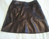 The Leather-Look Skirt