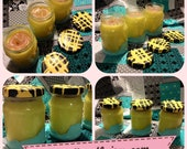 Recycled Dipped Jam Jar Candles: Set of 3