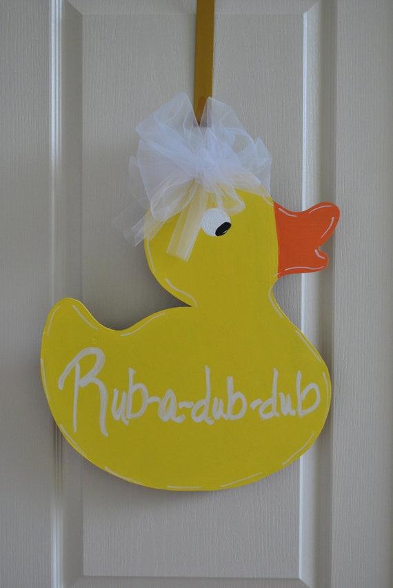 Rubber Ducky Door Hanger