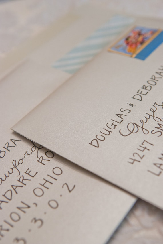 Wedding Calligraphy Envelope Addressing Custom Handlettered