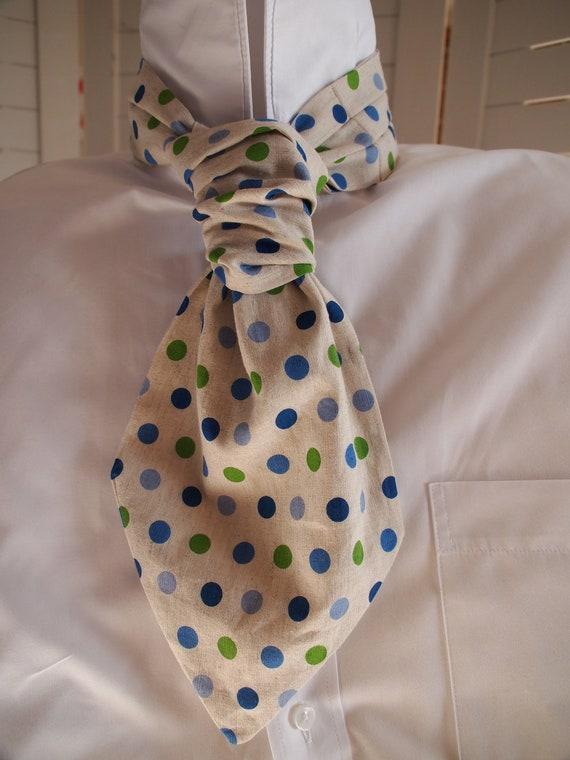 The 'Penny' handmade Men's ascot tie / cravat