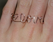 Double Wire Ring - Love