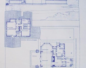 Frank Lloyd Wright Hickox House Blueprint