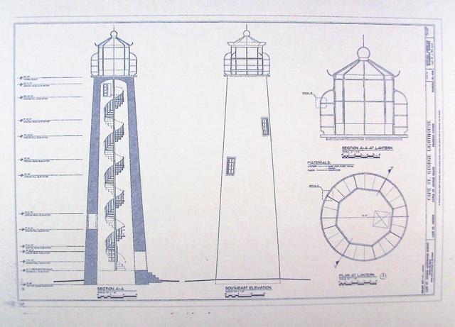 Cape St George Lighthouse Blueprint By Blueprintplace On Etsy
