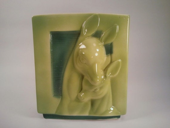 Shawnee Pottery Mother Doe and Baby Fawn Planter