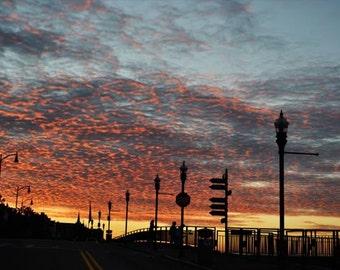 Sunset Photo, Mt. Washington Pittsburgh, Orange, blue, yellow, black, fine photography prints, From Atop Mt. Washington