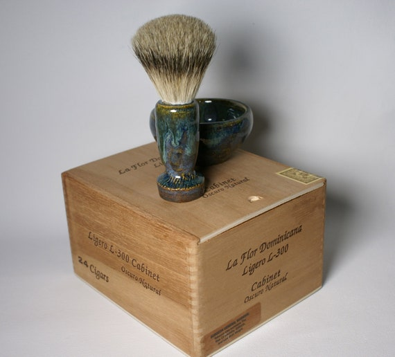 Hand Made Badger Shave Brush & Soap Kit