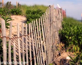 Fence on Beach Photo 8 X 10