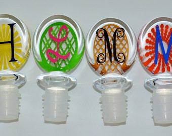Personalized Monogrammed Winestopper
