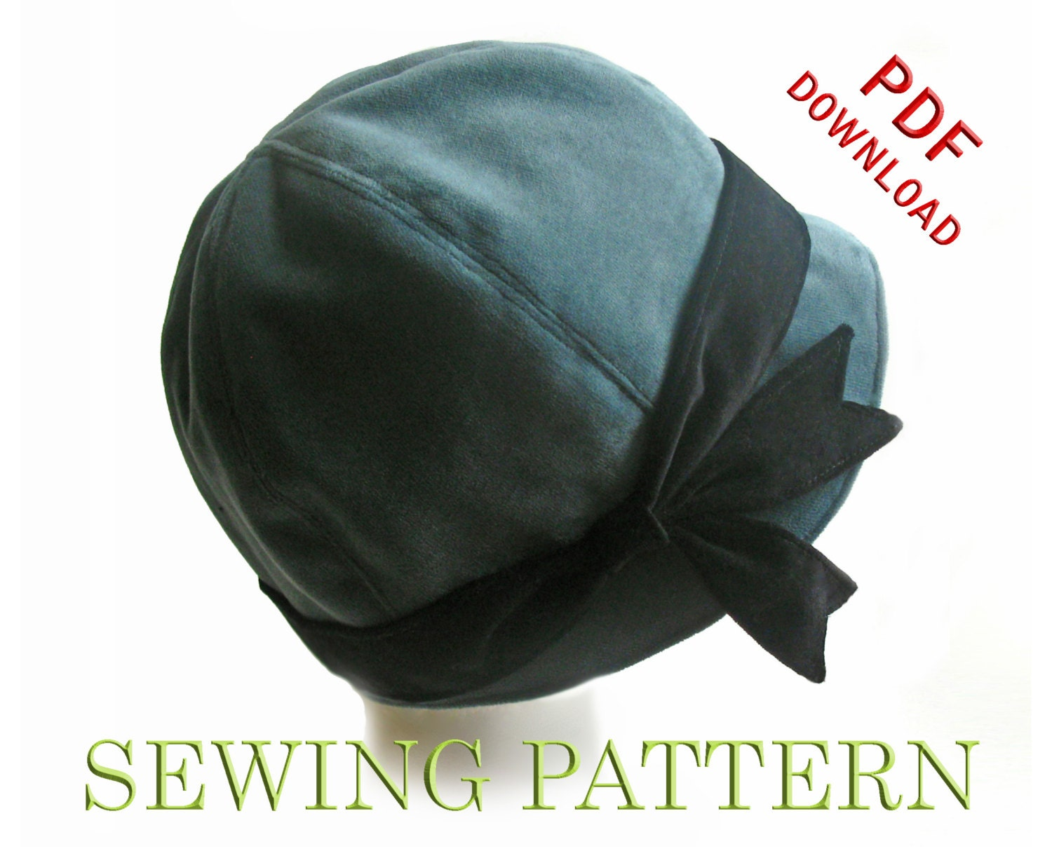 SEWING PATTERN Penny 1920s Twenties Cloche by ElsewhenMillinery