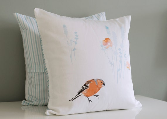 Chaffinch cushion