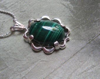 Fancy Malachite Pendant