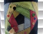 Crazy Quilt & Buttons Bag