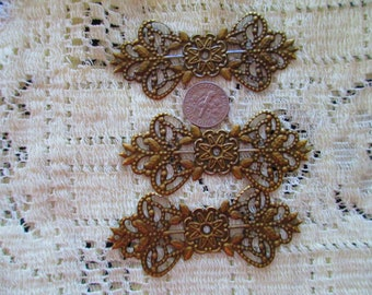 3 Victorian Knots  Filigree Filagree for Jewelry Making