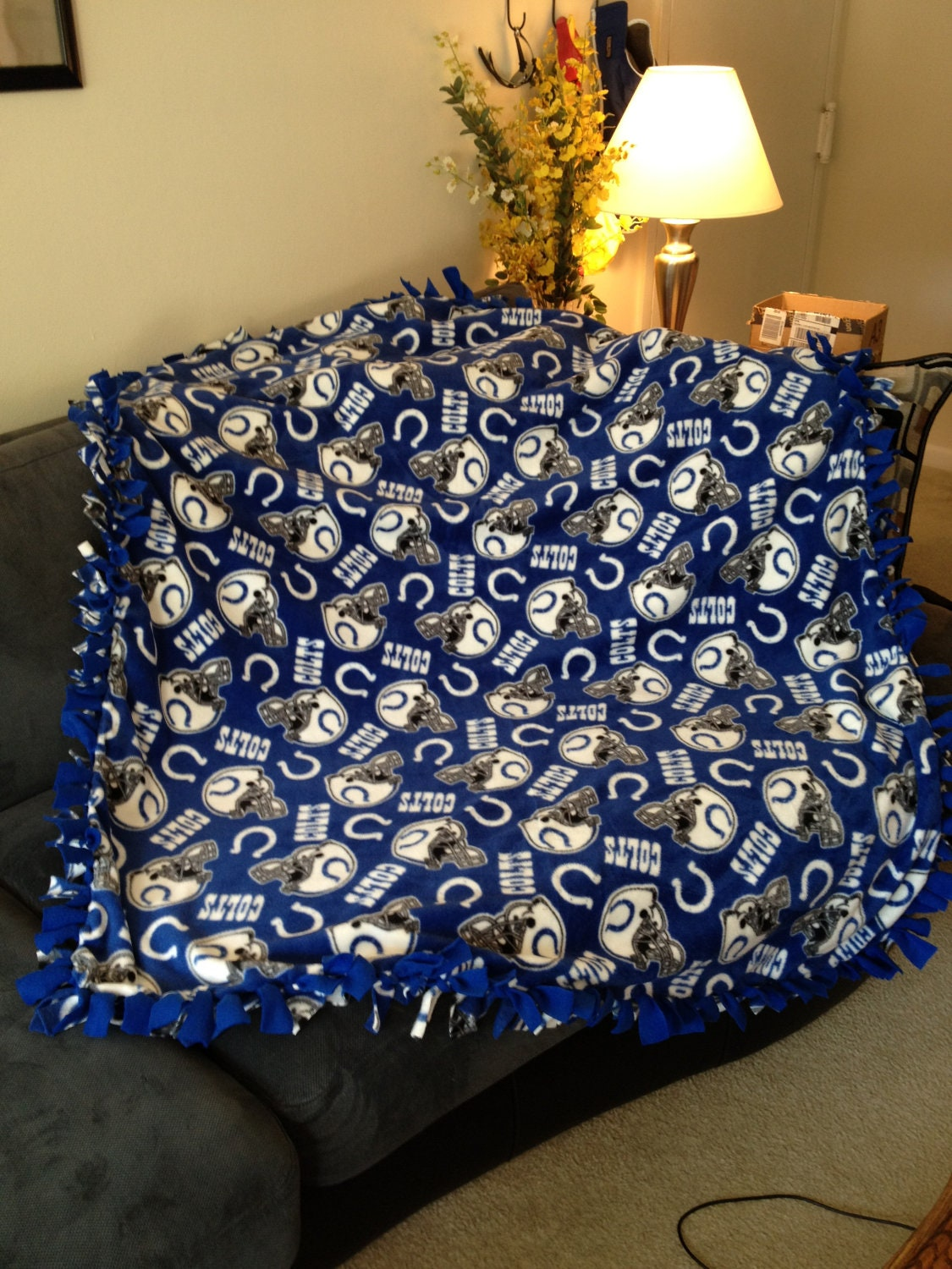 Indianapolis Colts Blanket Nfl Football By Blanketsunlimited