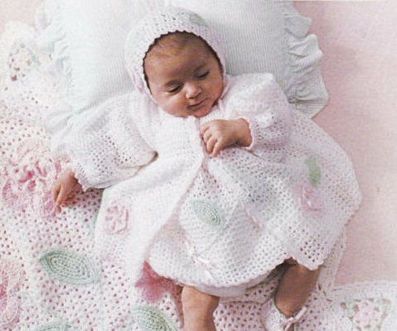 Leisure Arts Baby Blooms Layette Crochet Pattern
