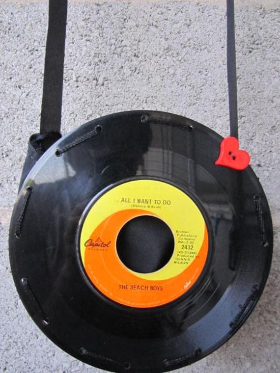 "Beach Boys 7"" Vinyl Record Purse"