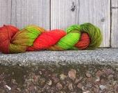 Hand-Dyed Merino/Nylon Sock Yarn -Kiwi