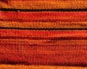LARGE Vintage Cusco Woven Loomed Andean Blanket Rug Carpet (Manta). Nice Orange & strapes patterns