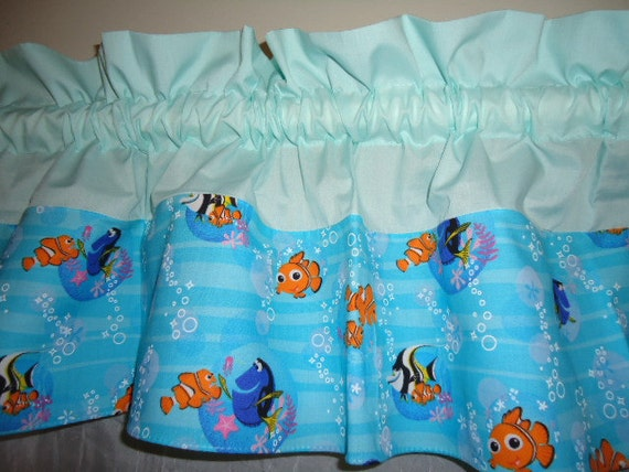 Items Similar To Finding Nemo Ocean Curtain Valance Two