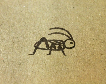 "Cricket Rubber Stamp - 1"" x 1"""