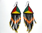 Red Yellow Green - Earth, Wind, and Fire Native Pride Beaded Earrings