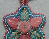 Dilly bead embroidered pendant