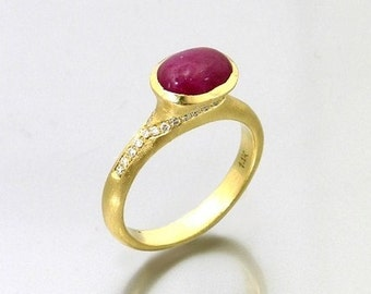 Golden Ruby Ring