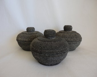 FREE SHIPPING on orders of 39.00 or more!!! - Use Coupon Code FREESHIP at checkout - Lava Stone Containers - Set of 3