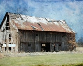 """Old and Long Abandoned Barn 5""""x7"""" Photo Greeting Card"""