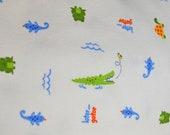 Later Gator White 100% Cotton Knit Fabric - 3 YARDS