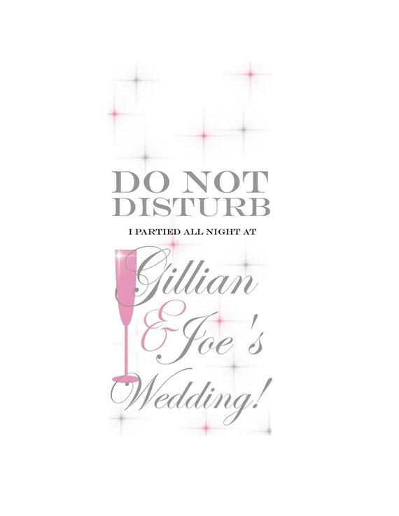 Items similar to wedding do not disturb sign door hanger diy printable on etsy - Diy do not disturb door hanger ...