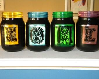 Hand painted mason jars/candles