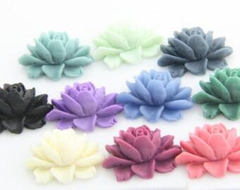 20 pcs of 10colors of smaller size big rose cabochon-23x18x9mmRC0026-mixture colors