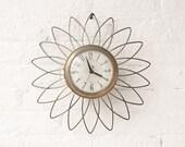Mid Century Brass Clock